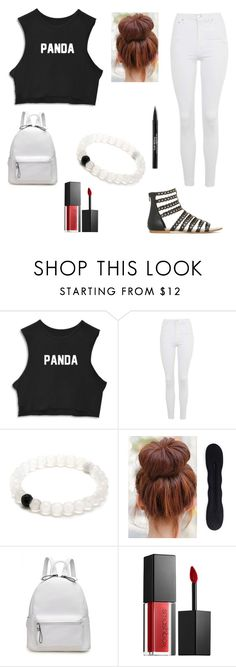"""""""Panda"""" by alexandra-birky ❤ liked on Polyvore featuring Topshop, Smashbox and Trish McEvoy"""