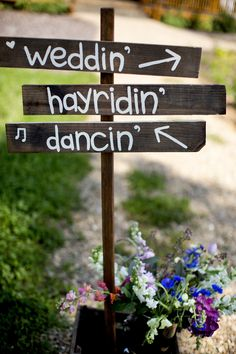 Rustic wooden signs.  Picture by: takenbytate.com  Sign designed by: http://www.etsy.com/shop/SouthernStrokes