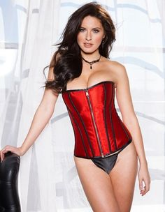 Sexy #ValentinesDay #Lingerie for Her: Zip Reversible Corset. #LoversLane
