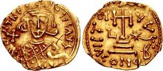 """CoinArch Theodosius III of Adramytium. 715-717. AV Solidus (21mm, 3.44 g, 6h). Rome mint. Struck 716-717. ∂ N TҺЄO–DOSIS AVς, crowned bust facing, wearing loros, holding globus cruciger in right hand, akakia in left / VICTORI AVς, cross potent set on three steps; L to left, star to right; (cross of four pellets)//CONOB. Cf. DOC 11 (A officina in place of pellets); MIB N8 (same dies); SB 1498. Good VF, graffito (""""X"""") in obverse field. Extremely rare, only one cited in MIBE. Little is known…"""