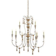Michele 9-Light Chandelier, Gold
