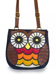 077ee64dc33 Denim Owl Crossbody Bag by Loungefly (Red Orange Yellow) Diy Bags Patterns