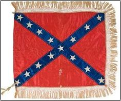 presentation flag of Confederate Brigadier General Lloyd Tilghman