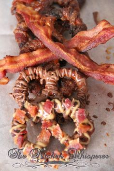 Sweet Heat Bacon- Wrapped Peanut Butter Chocolate Pretzels