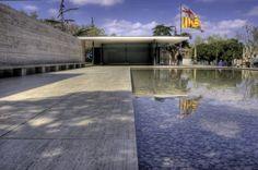 Barcelona Pavilion, built 1929, Demolished 1930, rebuilt in 1986. Barcelona, Spain. Mies van der Rohe