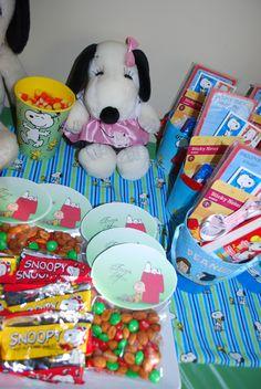 snoopy birthday party treats