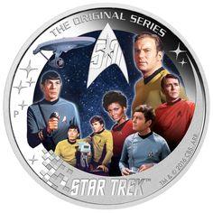 2016 Star Trek :Enterprise NCC-1701 Crew 2oz Proof Silver Coin   eBay