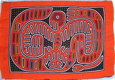 Eagle Mola made by Kuna (Cuna) Indian people of Panama's San Blas Islands.