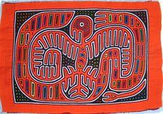 Eagle Mola made by Kuna (Cuna) Indian people of Panama's San Blas Islands.