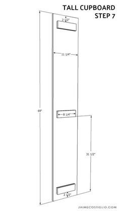 tall cupboard - buildsomething.com Diy Kitchen Storage Cabinet, Diy Kitchen Cupboards, Diy Furniture Building, Home Remodeling, Locker Storage, Floor Plans, How To Plan, Basement, Room Ideas