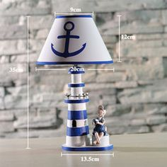 2016 lighthouse wood Wholesale-Creative Mediterranean style decoration lamp decoration wooden lighthouse lovers of children room decoration bedside lamp lighthouse wood deals