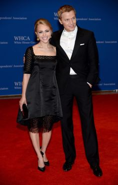 AnnaSophia Robb wore a black dress and gold earrings, while Ronan Farrow rocked a dapper white tie with his tuxedo.