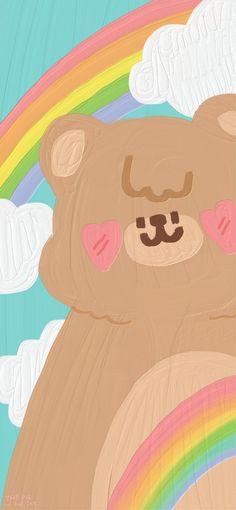 Cute Pastel Wallpaper, Soft Wallpaper, Cute Patterns Wallpaper, Bear Wallpaper, Iphone Background Wallpaper, Cute Anime Wallpaper, Painting Wallpaper, Cute Cartoon Wallpapers, Aesthetic Iphone Wallpaper