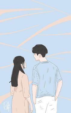 Aesthetic Couple, Aesthetic Anime, Couple Wallpaper, Disney Wallpaper, Book Cover Background, Cover Wattpad, Cute Love Cartoons, Tumblr Art, Couple Cartoon