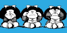 Image discovered by Romanti. Find images and videos about mafalda and comic-strip on We Heart It - the app to get lost in what you love. Charlie Brown, Mafalda Quotes, See No Evil, Snoopy, Land Art, Cover Photos, Comic Strips, Pop Art, Mickey Mouse