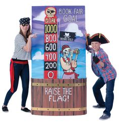 Build a goal chart that motivates your school to see how high their flag can fly. Use cardboard, insulation foam, paint, and rope to build this pirate-themed goal chart. Find how-to instructions in the Toolkit. Fair Files keyword: GOAL CHART. #mybookfair