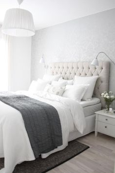 light grey and white bedroom - Google Search