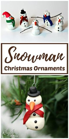 It's time to decorate your Christmas tree with these adorable, handmade ornaments. These DIY snowmen creations will look so sweet decorating your Christmas tree. They also make wonderful handmade gifts this holiday season! Snowman Christmas Ornaments, Snowman Crafts, Ornament Crafts, Handmade Ornaments, Christmas Tree, Handmade Gifts, Craft Projects For Kids, Crafts For Kids To Make, All Things Christmas