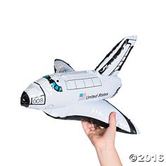 Blast off for some interplanetary fun with these inflatable space shuttles! Hand out these awesome rockets at your outer space birthday party for a fun prize ...
