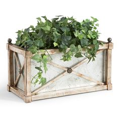 Chelsea House Rectangle Mirror Planter Features: Antique silver with antique mirror Measurements: Overall Dimensions: w x d x h Carton Dimensions: w x d x h Packed Volume: cu. Living Room Furniture Online, Buy Furniture Online, Planter Boxes, Planters, Lotus Tea, House Gifts, Ceramic Decor, Home Decor Items, Decorative Boxes