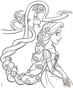 rapunzel cotton candy tangled coloring page coloring.html