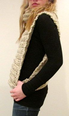 Crochet Vest with Cowl // Pattern only by MintyDesigns on Etsy