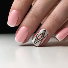 French Manicure Ideas 2017 Geometric Nails Of Summer