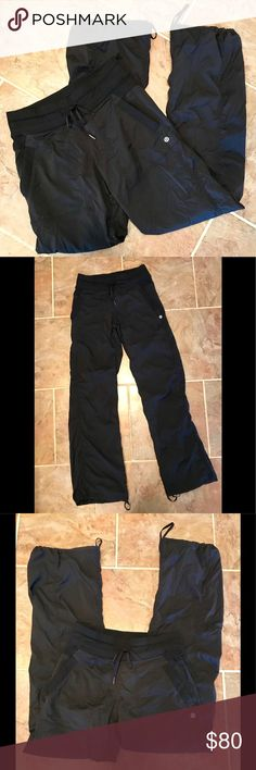 Lululemon Dance Studio Pant II, sz 4, black VEUC black regular length Lululemon Dance Studio Pant, Unlined, Sz 4. Amazing pre-owned condition with no flaws to note. Drawstrings all attached, tags removed. Honestly the softest pants I've ever owned. Lightweight and easy to throw on quickly for the gym or a day running errands. Questions and reasonable offers welcomed. lululemon athletica Pants