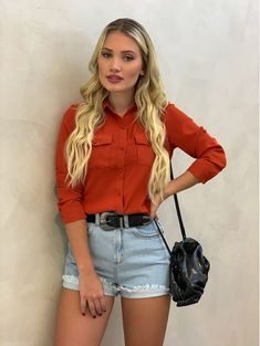 Short Outfits, Trendy Outfits, Cool Outfits, Teen Fashion, Fashion Outfits, Womens Fashion, Mode Style, Aesthetic Clothes, Summer Looks