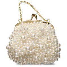 Lindíssima bolsa adornada com pérolas de diferentes tamanhos! #ldicristais www.ldicristais.com.br