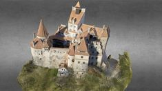 3D photogrammetry reconstruction of Bran Castle from Transylvania -Romania,  the genuine place where Vlad the impaler- Count Dracula lived.<br>Aerial photos were taken using FAE Drones FAE 1115 Octa<br>Model for sale, contact office@FotografieAeriana.Eu