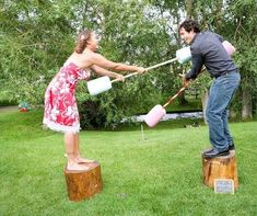 Tons of fun and simple backyard party game ideas.