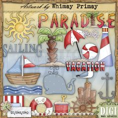 Paradise - Whimsy Primsy Clip Art Download