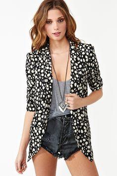 nasty gal. spot it blazer. #fashion