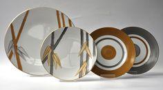 Marie Dâage Porcelaine de Limoges Collections: Indochine, Milleroues Ambre/Taupe