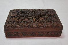 Antique Walnut Hand Carved Walnut BOX | eBay