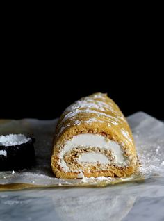 chamomile whipped cream roll.