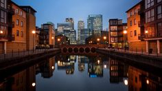 Reflection City #london - Are you seeing double???? This is @canarywharflondon with its reflection in the still water.  This location can be found by walking down the road from Blackwall DLR station.