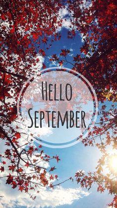 Hello September phone wallpaper
