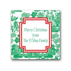Holiday Chinoiserie Gift Stickers Labels
