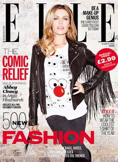 Abbey Clancy for Elle UK March 2015