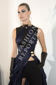 Ophelie Guillermand at Atelier Versace Backstage | Haute Couture FW14-15 | Ph. Antonello Trio
