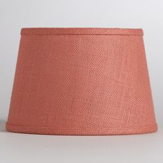Coral Burlap Accent Lamp Shade | World Market    It seems like all my favorite lamp shades are discontinued, out of stock, or the wrong size!
