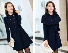 Marca de moda de nova casacos femininos inverno casaco de lã das mulheres cor sólida fino casaco engrosse manto coats feminino grátis frete em Lã e Mesclas de Roupas e Acessórios Femininos no AliExpress.com | Alibaba Group