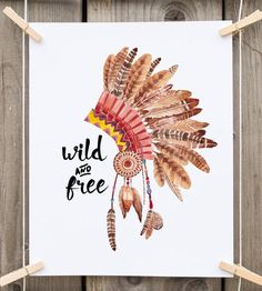 gift for her wild and free native american by PrintableLifeStyle