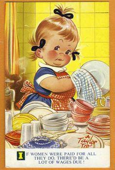 Postcard Comic Bamforth Taylor Tots Series No K 210 Vintage Pictures, Vintage Images, Cute Pictures, Retro Kids, Vintage Greeting Cards, Vintage Postcards, Motif Vintage, Vintage Drawing, Vintage Children