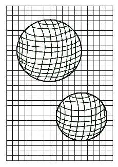 Arts visuels l 39 cole op 39 art sph res sur quadrillage cr er un effet d 39 optique en utilisant - Mini coloriage illusion d optique ...