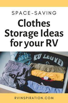 How to save space in a camper closet Camper Life, Truck Camper, Rv Life, Camper Trailers, Travel Trailers, Tiny Camper, Camper Storage, Closet Storage, Rv Camping