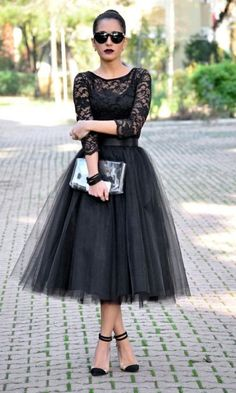 Black tulle skirt with lace                                                                                                                                                                                 More