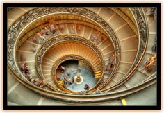 incredible Vatican staircase and a wicked website to boot.